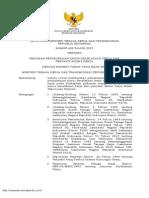 Peraturan Menteri Tenaga Kerja dan Transmigrasi No 602 tahun 2012 No 602