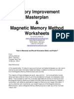 Memory Improvement Master Plan and Worksheets