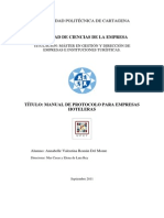 MANUAL DE PROTOCOLO PARA EMPRESAS HOTELERAS