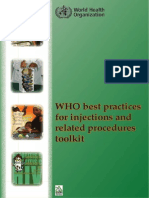 Best Practices in Injection as Recommended by WHO