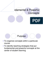 Fundamental and Powerful Concepts