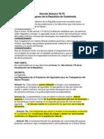 Ley Reguladora Del Pago Del Aguinaldo Para Los Trabajadores Del Sector Privado