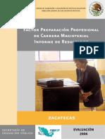 Factor Preparación Profesional de Carrera Magisterial