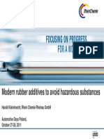 Modern Rubber Additives to Avoid Hazardous Substances