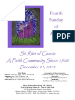 Saint Rita Parish Bulletin 12/21/2014