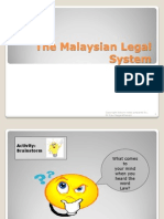 Topic 1 the Malaysian Legal System
