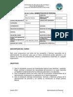 658 Administracion de Personal Julio 2011