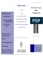 Osteoporosis Brochure