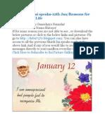 Shri Shirdi Sai Speaks for 11th and 12th Jan
