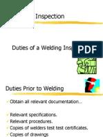 Welding Inspection Duties of the Inspector
