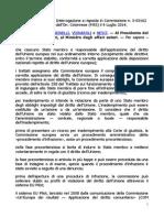 EUROPA INTERROGAIONE 2014 PUNTO SULLE INFRAZIONI DELLA ITALIA 5-03162 Camera - XIV - Risposta del 29 luglio 2014 (2).pdf