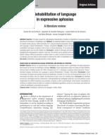 Dement Neuropsychol 2012 December;6(4):223-235 Original Articles Fontoura DR, et al.   Rehabilitation of language