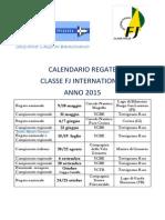 Calendario Regate Classe Fj 2015