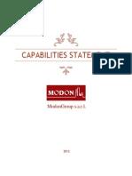 Capabilities Statement of Modongroup Sarl 2013