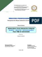 Univ Ouagadougou Demarche Qualite Securite Environnement Pme Ecosan Savadogo