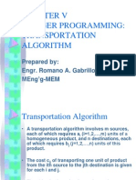 Transportation Algorithm