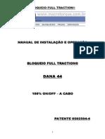 Macrotorque - Manual de Instalação Bloqueio - DANA 44