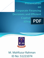 Presentation on Corporate Financing Decision and Efficient Capital Market