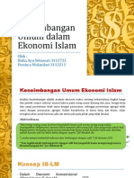 Keseimbangan Umum Dalam Ekonomi Islam Ppt