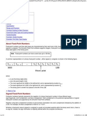 Fixed Point Numbers | Data Type | Theory Of Computation