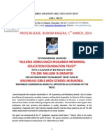 1.3.2014 .... Press release Joha-Trust   - Bukoba Kagera ... 1.3.2014.docx