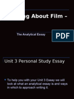 Art Video Unit 3 Personal Study Writing About Film –