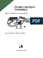 Dictionnaire Critique Automobile