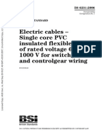 BS 6231-2006 电缆 开关装置和控制装置配线用额定电压600∕1000V的单芯聚氯乙烯绝缘软电缆