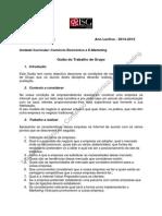 TRABALHO DE GRUPO CE + E-MKT - GUIÃO 2014-2015