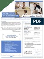 WIC HospitalityJobsTrainingProgram Flyer