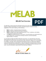 Melab Test Overview and Sample Questions