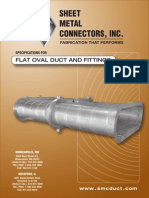 Flat Oval Duct and Fittings