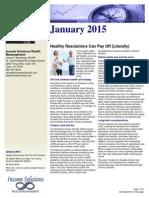 January 2015 Newsletter