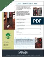 Closet Design Guidelines