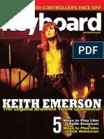 Keyboard Magazine. November 2010