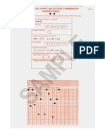 Sample Omr Sheet Filled