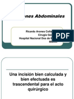 Incisiones Abdominales 2013.