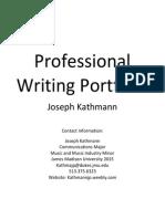 professional writing portfolio for online