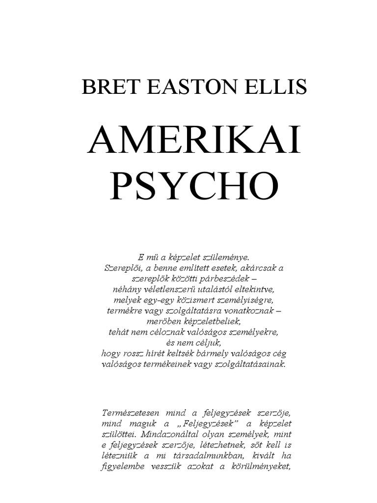 Bret Easton Ellis Amerikai Psycho 278bfb9f59