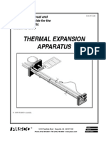 Compact Thermal Expansion Apparatus Manual TD 8578