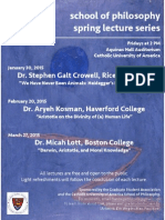 2015 Lecture Series Flyer