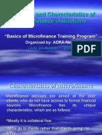 Key Principle and Characteristics of Micro Finance