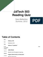 Sara Ballantine, EdTech 503, Reading Quiz