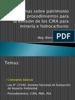 Procedimiento para la emisión de CIRA en minería e hidrocarburos