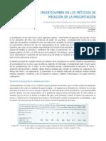 Incertidumbre en los métodos de medición de la precipitación