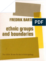 Barth, Ethnic Group and Boundaries Sp