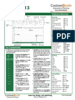 Excel 2013 Cheat Sheet