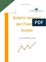 Bulletin Mensuel des Finances Locales - TGR Décembre 2006