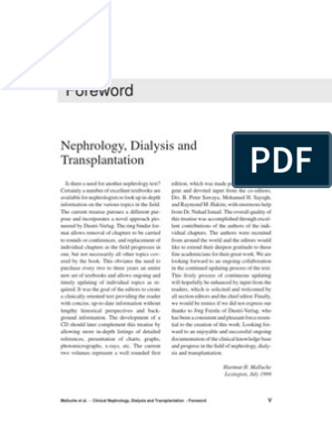 clinical nephrology dialysis and transplantation | Renal