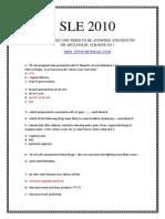 SLE 2010-8